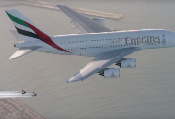 VIDEO: Jetman races Emirates A380 over Dubai