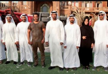 Abu Dhabi officials tour Tiger Zinda Hai  set with Salman Khan