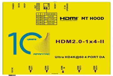 Apantac announces HDMI 2.0 distribution amplifiers, splitters, matrices