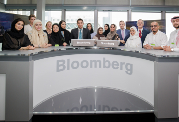 Saudi journalists undergo training at Bloomberg TV studios in Dubai