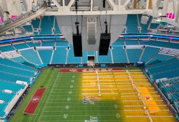 Telemetrics' robotic camera system used at NFL final