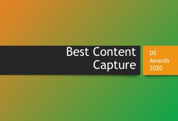 DS Awards 2020 category focus: Best Content Capture