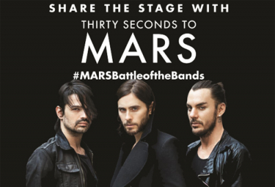 Share the stage with Thirty seconds to Mars
