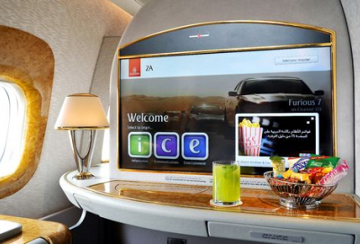Emirates unveils world's largest on-board screens