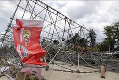 Tornado strikes Caribbean Games stadium