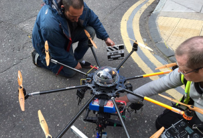 Cloud 12 flies high with 'Olivia' Octocopter