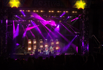IN PICS: Colour Sound Lights at Bestival