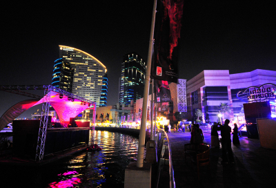Festival City floating stage 'open for business'