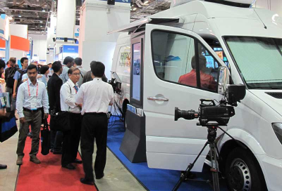 Hitachi Kokusai unveils OB truck for Middle East
