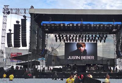 Soundcheck provides Harman for Justin Beiber