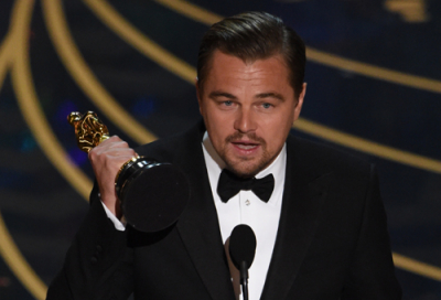 Leonardo DiCaprio wins Best Actor award at Oscars