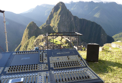 Red Power's DiGiCo SD8 performs in Machu Picchu