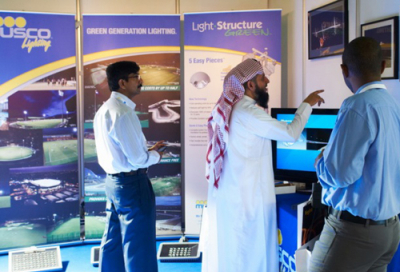 Arsenal stadium LEDs on show at Light Middle East