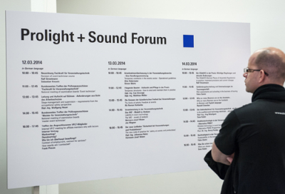 Prolight + Sound conference programme published