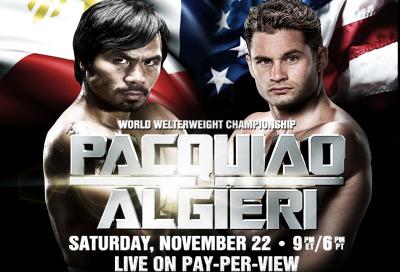 Pacquiao vs. Algieri to be broadcast live on OSN