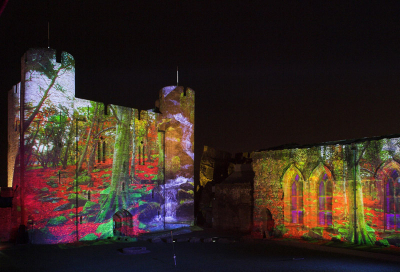 IN PICS: Castle turned canvas for projection art