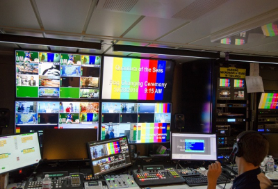 PICTURES: Largest HD IP TV broadcast system at sea
