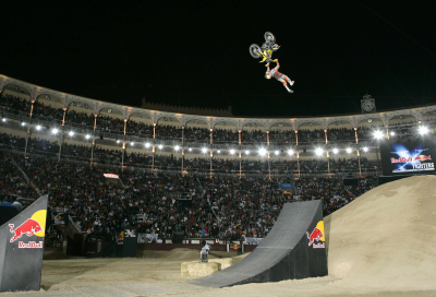 Red Bull X fighters takes Riedel to bullring