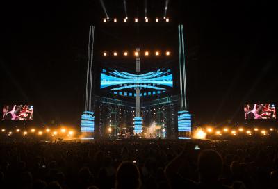 Robe LEDWashes on Vasco Rossi tour