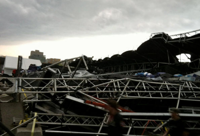 VIDEO: Stage collapses at Ottawa Bluesfest