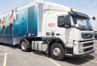 Megahertz  Astro truck reminder as IBC approaches