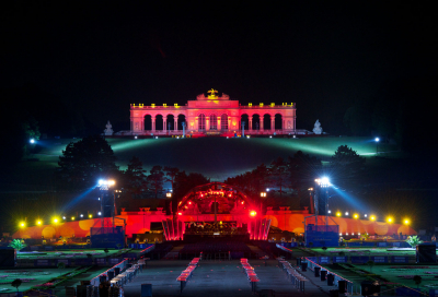 Robe's summer night impact at Schonbrunn Palace