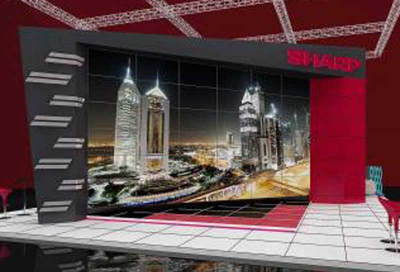 Sharp to create region's largest video wall