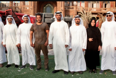 Abu Dhabi officials tour Tiger Zinda Hai  set with Salman Khan