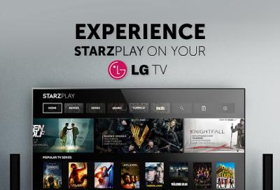 STARZ PLAY Announces Partnership, Now Available on LG Smart TVs