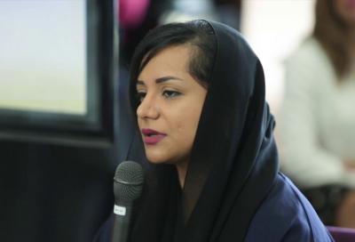 Nayla Al Khaja at the Dubai Mall Breakfast Talks