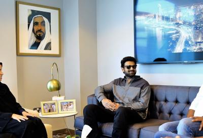 Indian movie star Prabhas shooting new film in Abu Dhabi