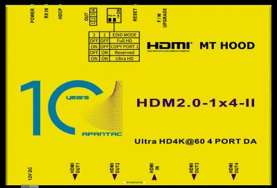 Apantac announces HDMI 2.0 distribution amplifiers, splitters, matrices