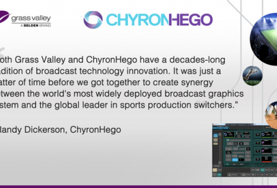 ChyronHego and Grass Valley to deliver integrated solution for sports arenas