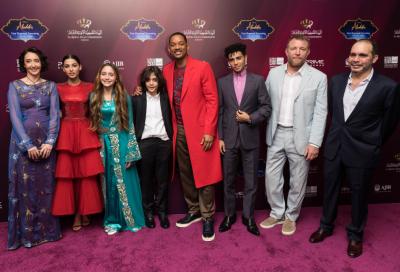 "Stars of Disney's live-action ""Aladdin"" return to Jordan as part of film's 'magic carpet' world tour"