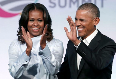 Michelle and Barack Obama in multi-year podcast deal with Spotify