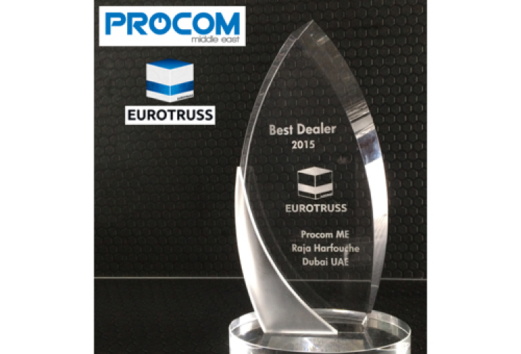 Procom wins 'Best Dealer 2015' Eurotruss award