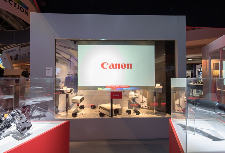 Canon demonstrates new projection possibilities at ISE 2018