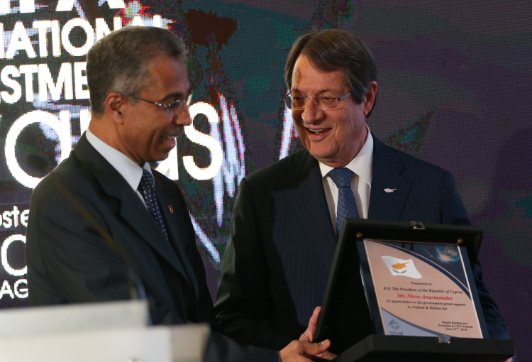 Arabsat honoured by Cyprus President for Hellas Sat investment