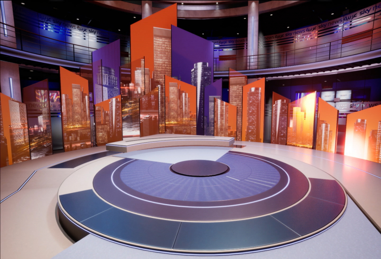 Sky News Arabia unveils MENA's first virtual news studio