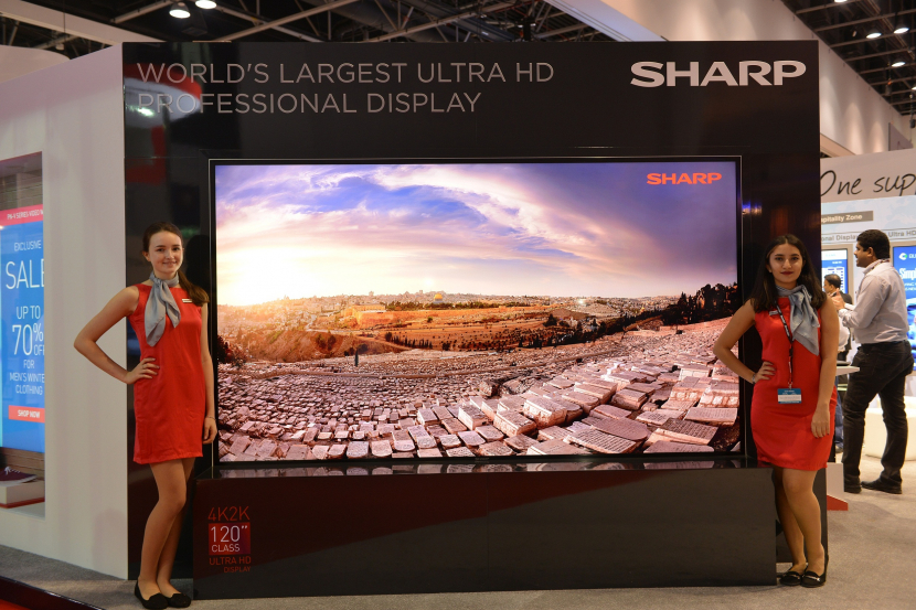 120-inch, 4K, Display, Google news, Infocomm, InfoComm MEA, Middle East, New, Product, Sharp, Ultra HD, News, Consumer-facing Tech