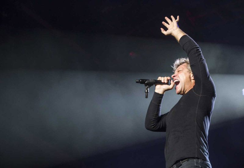 Bon Jovi rocks the crowd in Abu Dhabi.