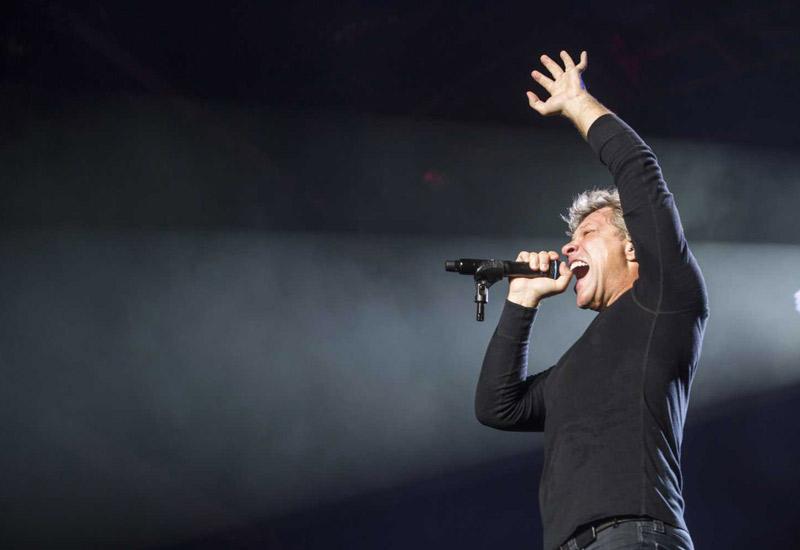 Bon Jovi rocks the crowd in Abu Dhabi.