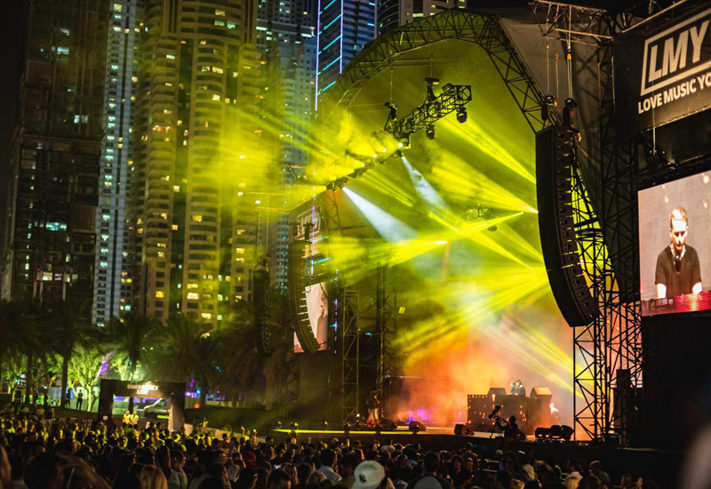2016, Disclosure, Dubai, Eclipse Staging Services, Festival, Laser Grafix, LMYW, Love Music Your Way, Music, Rudimental, Analysis, Live Events