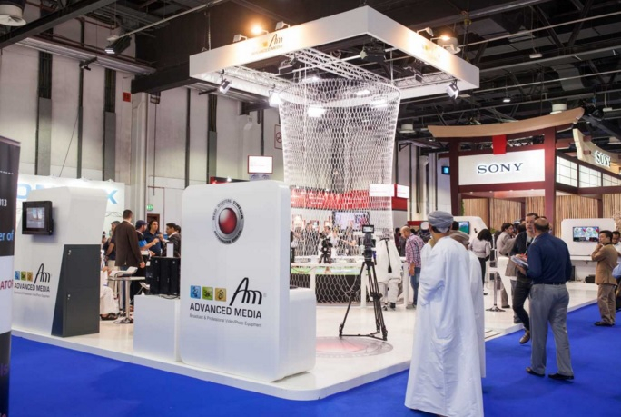 Advanced Media's booth at CABSAT 2015.