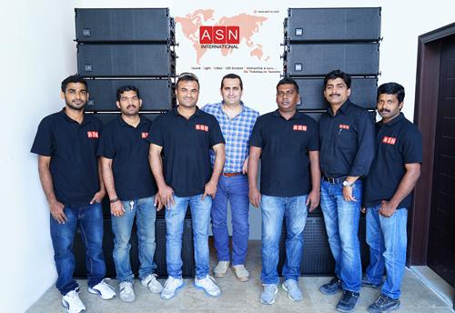 The ASN team with the new arrays.