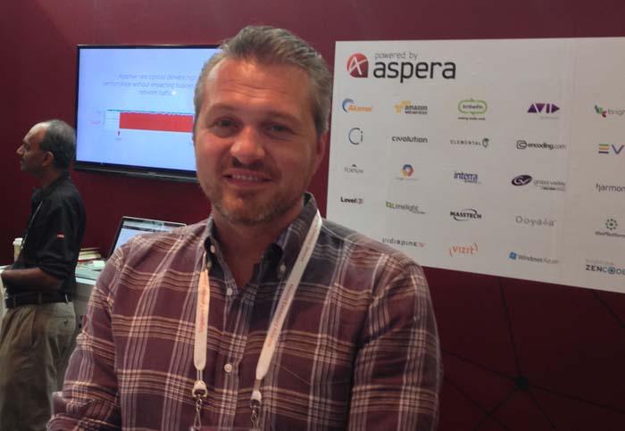Francois Quereuil, senior director, worldwide marketing, Aspera.