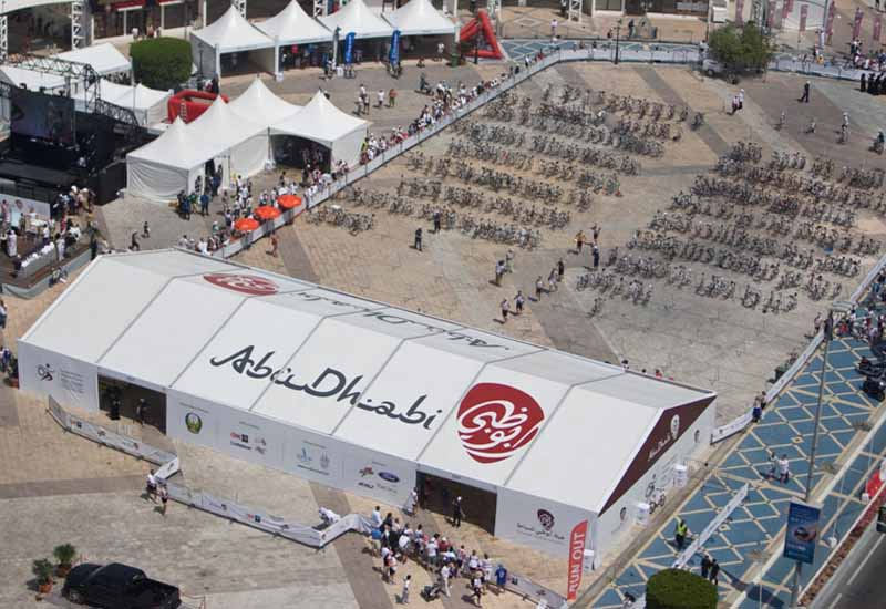 Harlequin and Arena International are responsible for the temporary infrastructure at events such as the Abu Dhabi Triathlon.
