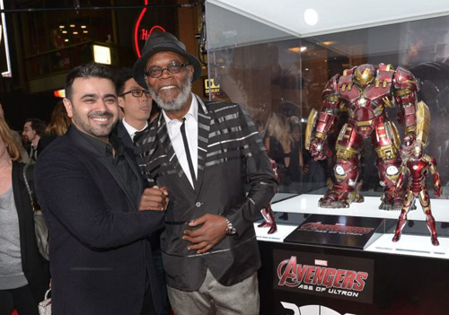 Mohammed Khammas, CEO of AAHG, with Marvel franchise star Samuel L Jackson.