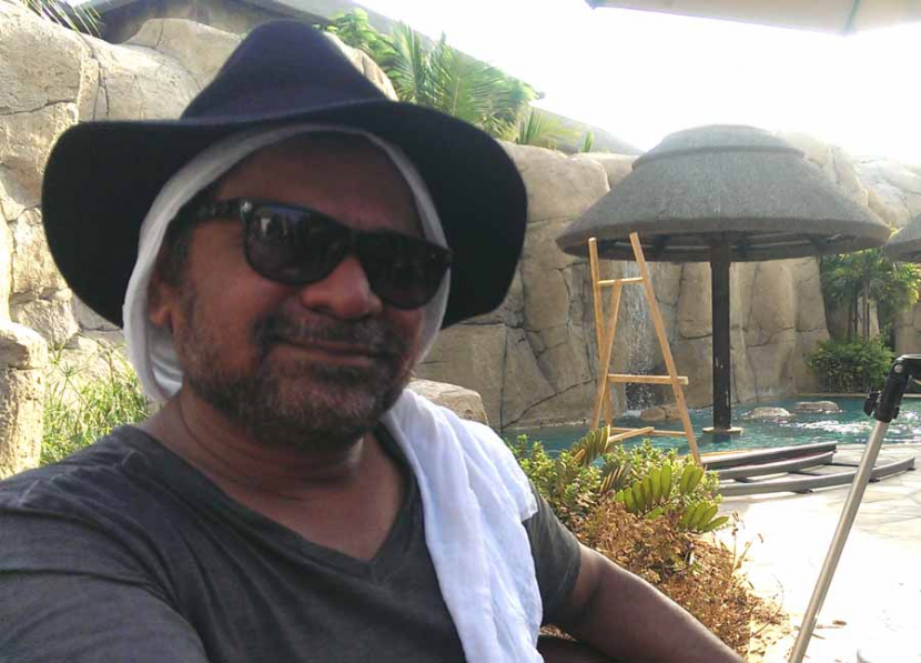 Anees Bazmee, director of Welcome Back, on location in Dubai yesterday.