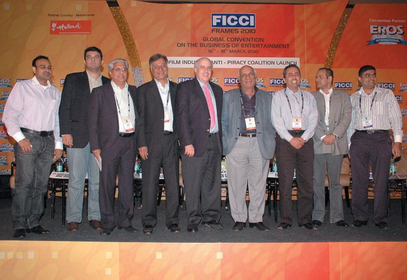 L to R:Sandeep Bhargava,Siddharth Roy Kapur, AP Parigi, Harish Dayani, Dan Glickman,Yash Raj Chopra, Sanjeev Lamba, Ram Mirchandani and Hiren Gada